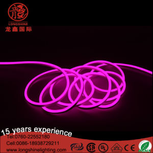 LED 8W 12V/24V/110V/220V Pink SMD2835 Chips Neon Flexible Strip Light for Holiday Decoration pictures & photos