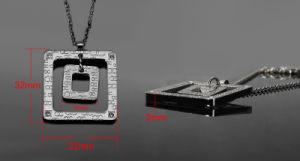 Cheap Price 316L Stainless Steel Unisex Magnetic Pendant Necklace (30011) pictures & photos