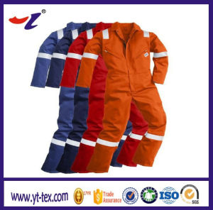 Flame Retardant Coverall for Safety Workwear with Reflective Tapes pictures & photos