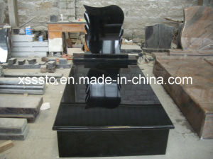 Black Granite European Style Memorial Tombstone Monument for Cemetery pictures & photos