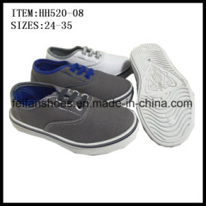 Children Canvas Shoes Injection Casual Shoes Factory (HH520-08) pictures & photos