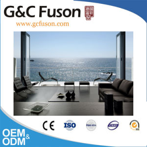 Fuson Space Saving Aluminum Folding Door with Double Glazing pictures & photos