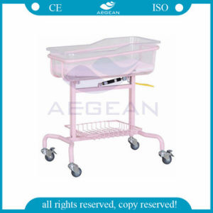 AG-CB009 Hospital Used Moving Professional Adjustable Infant Hospital Baby Bed pictures & photos