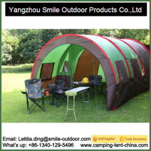5-8 Persons 2-Room Car-Park Camping Tunnel Big Family Tent pictures & photos