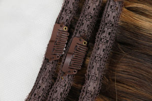 """Premium Quality 100% Human Hair Weave Real Remy Hair Extension Clip-in Hair Extensions 20"""" Piano Color P8/22# 8PCS /Set pictures & photos"""