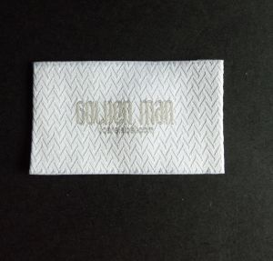 Twill Pattern Background Grey Text Damask Woven Label pictures & photos