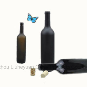 750ml High Grade Lead Free, Amber Red Wine Bottle, Beverage Bottle, Wine Bottle pictures & photos