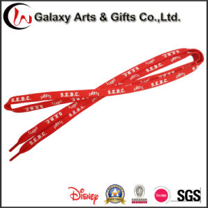 Promotional High Quality Canvas Shoes Silk Screen Print Tube Polyester Shoelaces Wholesale pictures & photos