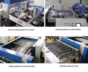 Automatic Metal Tinplate Can Cutting Slitting Machinery pictures & photos