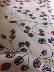 100% Polyester Crepe De Chin Printed Dress Fabric pictures & photos