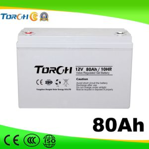 80ah Gel Type 12V Solar Battery for UPS, Power Station, Household System pictures & photos
