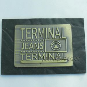 Different Types Garments PU Labels for Jeans Denim pictures & photos