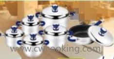 12PCS Ss Cookware Set Blue pictures & photos