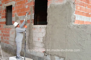 Cement Plaster Spraying Machine/Sand Mortar Spray Pump for Wall Building pictures & photos