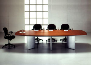 Steel Metal Base MFC Wooden Conference Table /Conference Desk (NS-NW338) pictures & photos