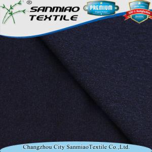Indigo Soft Slub Single Jersey Cotton Knitting Knitted Denim Fabric for Garments pictures & photos