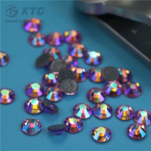 High Quality Light Colorado Topaz Ss4 Korea Lead Free Hot Fix Iron-on Rhinestone pictures & photos