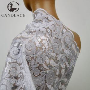 Fashion Design Sequence Fabric in White for Party Dress pictures & photos