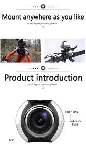 360 Camera 4k WiFi Mini Panoramic Camera Waterproof Sport Driving Vr Camera pictures & photos