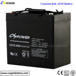 Long Life Lead Acid AGM Battery 12V55ah for UPS pictures & photos