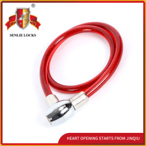 Jq8223 Three Color Pvu Security Steel Cable Lock Bicycle Lock pictures & photos