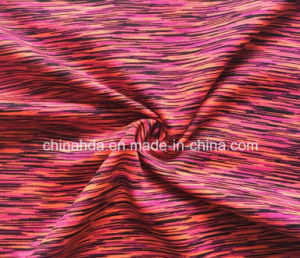 Satin Dying Polyester Spandex Single Jersey Knitting Fabric for Casualwear (HD2203322) pictures & photos