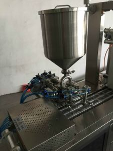 Dpb-120L Automatic Liquid Paste Small Cup Blister Packing Machine pictures & photos