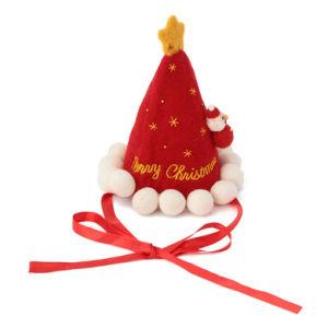 Christmas Decorated Felt Santa Claus Hat pictures & photos
