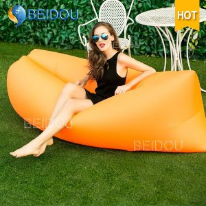 Foldable Leisure Beach Lounge Bed Inflatable Air Sofa Camping Bed