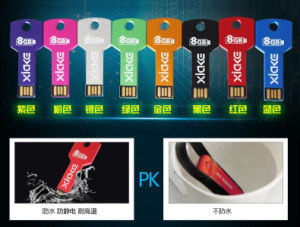 Colorful Free Logo Metal Pendrive Key USB pictures & photos