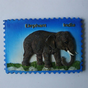 Promotion Cheap 3D Resin Tourist Indian Elephant Fridge Magnet pictures & photos