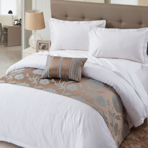 High quality White Cotton Jacquard Bedding Set for Hotel (WS-2016002)