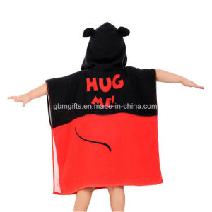 New Cartoon Animal Cloak Cotton or Microfiber Fabric Personalized Baby Kids Hooded Bathrobe Bath Towel pictures & photos