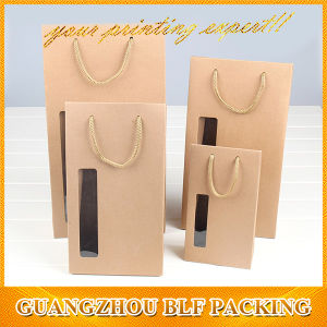 Custom Natural Paper Brown Kraft Bag with Window (BLF-PB309) pictures & photos
