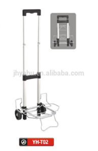 Height Adjustable Solid Rubber Wheel Handtruck Hand Turck Hand Trolley (YH-T02) pictures & photos