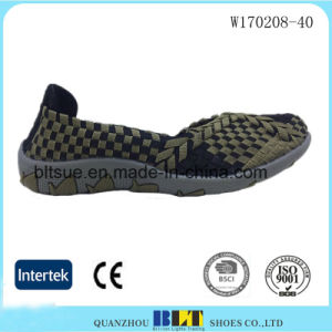 Leisure Lady Elastic Woven Shoes pictures & photos