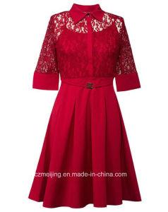 Three Color Women`S Restonic Dress pictures & photos