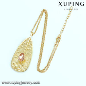 Necklace-00354 Fashion Platinum Eye Tear Design Diamond Leaf Shaped Jewelry Necklace pictures & photos