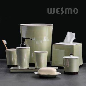 Delicate Glazed Porcelain Bathroom Set (WBC0958D) pictures & photos
