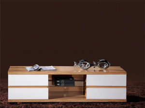 Antique Double Wooden TV Cabinet for Living Room Furniture (HX-LS020) pictures & photos