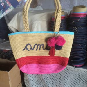 Customized Elegant Rural Style Straw Beach Bag for Kids pictures & photos