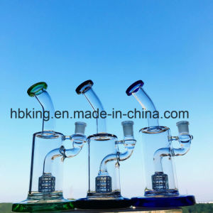 Mini Colorful Beaker Bottom Oil Rig Bubbler Free Shipping Glass Smoking Water Pipe pictures & photos