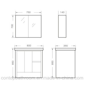 Modern Home Solid Wood Bathroom Cabinet 038 pictures & photos