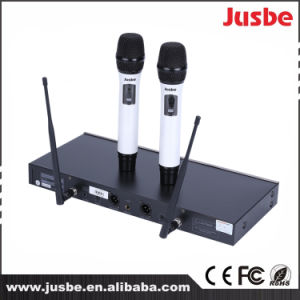 UHF 2 Way Professional Wireless Karaoke Singing Handheld Dynamic Microphone pictures & photos