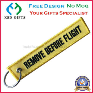 Hot Selling Anniversary Remove Before Flight Embroidery Key Chains pictures & photos