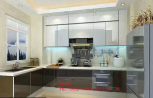 Modern Wooden Red Kitchen Cabinets (customized) pictures & photos