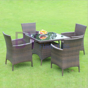 Outdoor Balcony Courtyard Cafe Leisure Three or Five Sets of PE Rattan Tables and Chairs pictures & photos