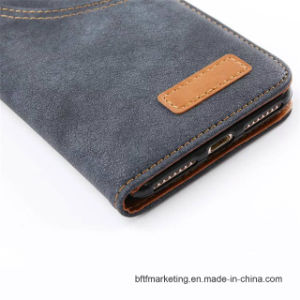 Jeans Retro Wallet Cell Phone Case for iPhone 8/8plus pictures & photos