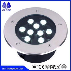 3*3W Waterproof IP67 9W LED Underground Light for Die-Casting Aluminum + Stainless Steel pictures & photos