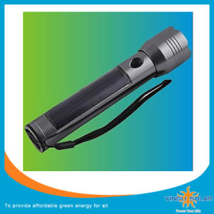 Solar Power Rechargeable LED Flashlight pictures & photos